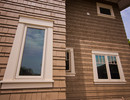 Home-Tech took great care in making the trim around each window.